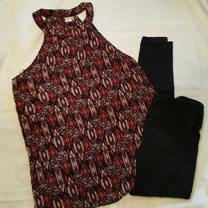 Halter top style tank blouse